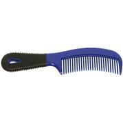 Plastic Comb w/ Rubber Grip BLUE
