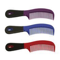 Plastic Comb W/Rubber Grip
