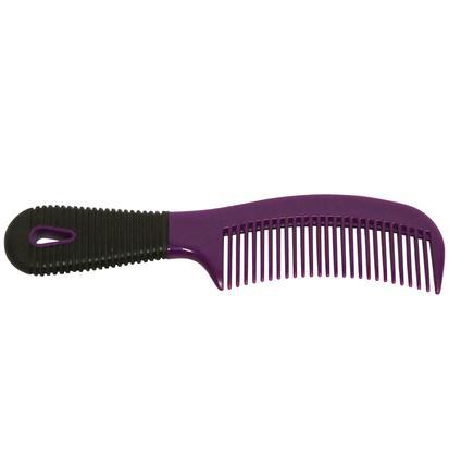 Plastic Comb w/ Rubber Grip PURPLE