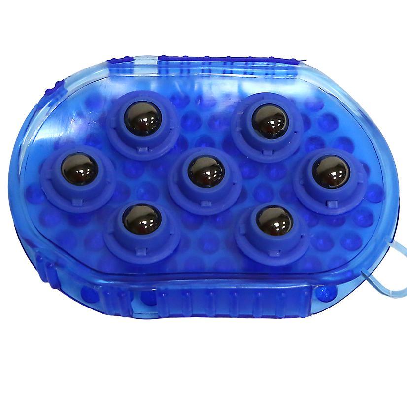 Jelly Massage Mitt w/Magnets BLUE