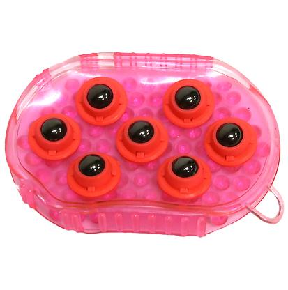 Jelly Massage Mitt w/Magnets PINK