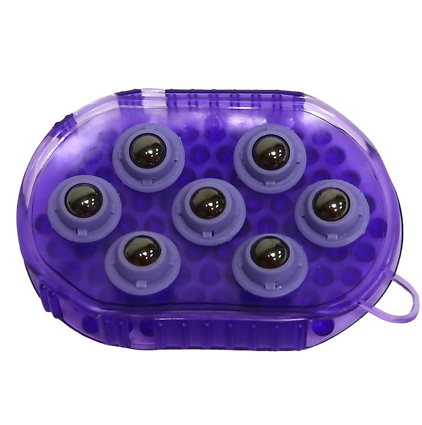 Jelly Massage Mitt w/Magnets PURPLE
