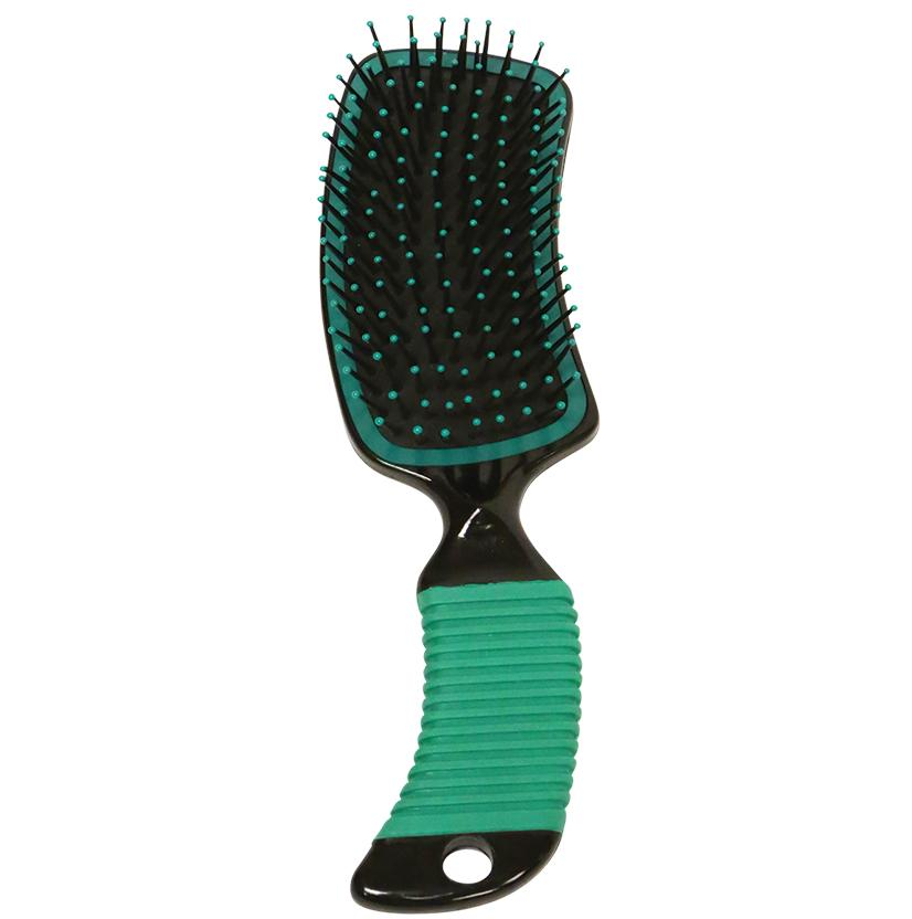 Curved Handle Mane & Tail Brush GREEN