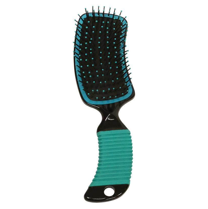 Curved Handle Mane & Tail Brush TEAL