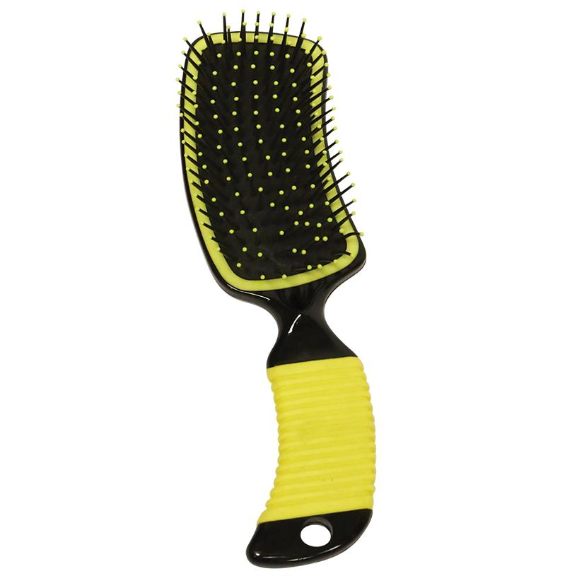 Curved Handle Mane & Tail Brush YELLOW