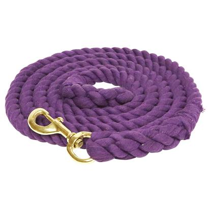 Cotton Lead with Bolt Snap PURPLE
