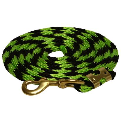 Two Tone Poly Rope Rein LIME/BLACK