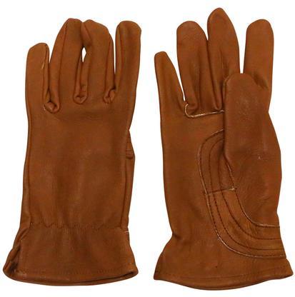 The Hand Deerskin Glove BROWN