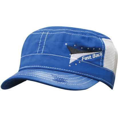 Fast Back Blue Snap Back Cap BLUE/WHITE