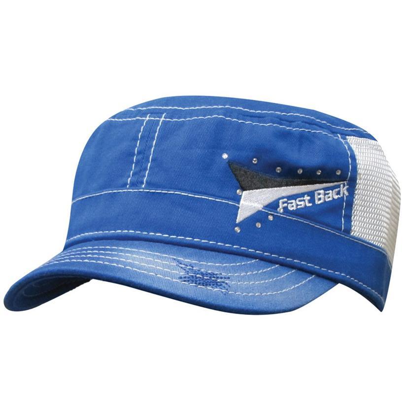 Fast Back Blue Snap Back Cap