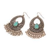 Santa Fe Rain Silver and Turquoise Earrings