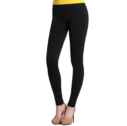 STT Womens Black Cotton Leggings