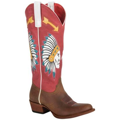 Macie Bean Red and Black Chief So Cute Womens Boots