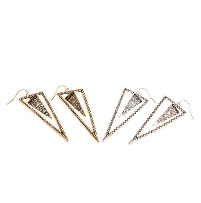Aztec Triangle Gold Or Silver Dangle Earrings