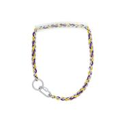 Chain Goat Collar with Rubber Grip and Yellow and Purple