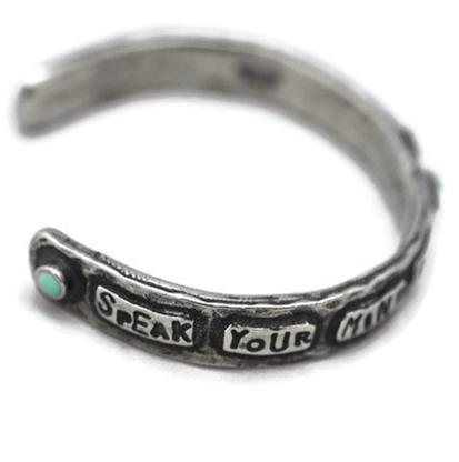 Silver Pistol Annie Cuff Bracelets by Lucky Lou Designs SPEAK_YOUR_MIND