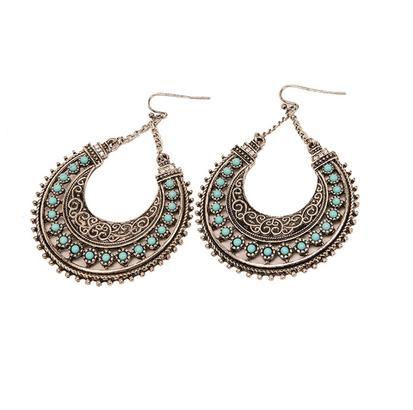 STT Turquoise Haven Silver Hoop Earrings