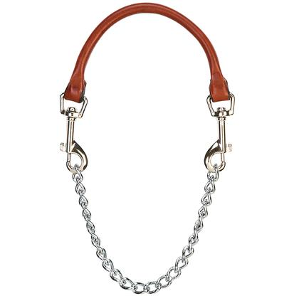 Leather And Chain Goat Collar