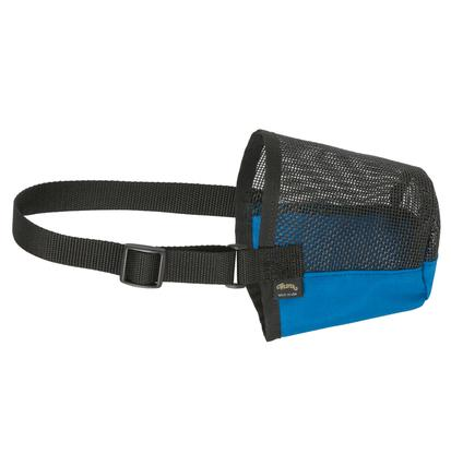 Deluxe Adjustable Sheep and Goat Muzzle BLUE