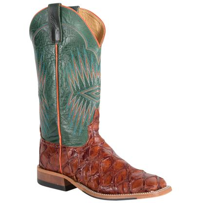 Anderson Bean Mens Cognac Bass and Green Boot