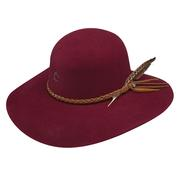Charlie 1 Horse Free Spirit Hat BURGUNDY