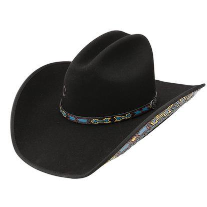 Charlie 1 Horse Aztec Black Felt Cowboy Hat