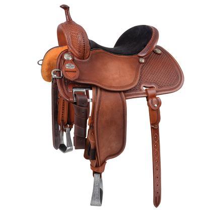 Cervi Crown C Barrel Saddle, Martin Saddlery