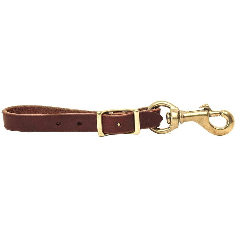 Stt Leather Cinch Connector With Brass Hardware