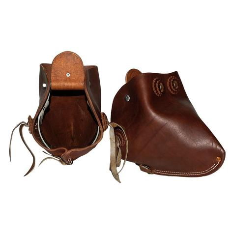 Plain Leather Monkey Nose Stirrups