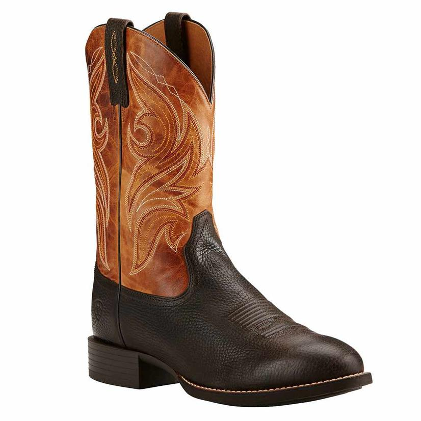 Ariat Heritage Mens Cowpuncher Iron Cowboy Boots