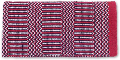 Ramrod Double Weave Saddle Blanket RD/BK/CR