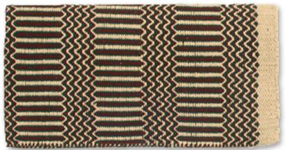 Ramrod Double Weave Saddle Blanket TAN/HUN/BUR