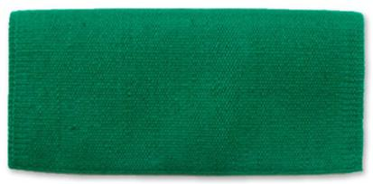 Mayatex San Juan Solids Saddle Blanket 36x34 KELLY_GREEN