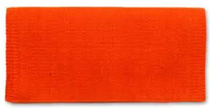 Mayatex San Juan Solids Saddle Blanket 36x34 TANGERINE