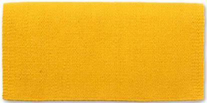 Mayatex San Juan Solids Saddle Blanket 36x34 YELLOW