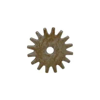 1 1/2 Inch Rock Grinder Spur Rowel Brushed Metal