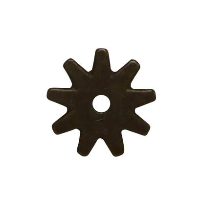 1 1/4 Inch 9- Point Spur Rowel Brushed Metal