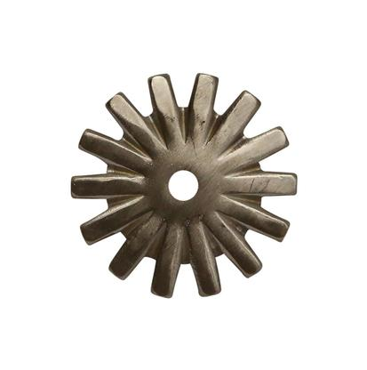 1 1/2 Inch Brushed Steel 14- Point Rowel