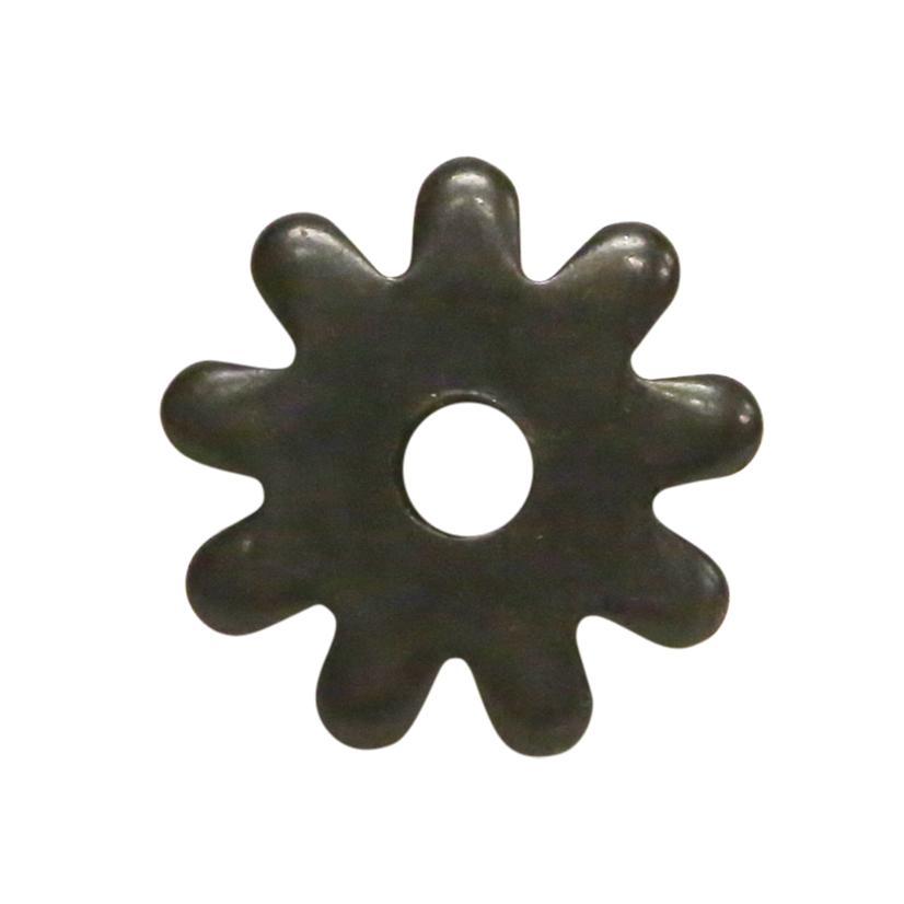 1 Inch Black Satin 9- Point Rowel
