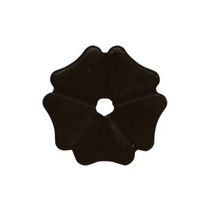 Cloverleaf Rowel 1 3/8 Inch Black Satin