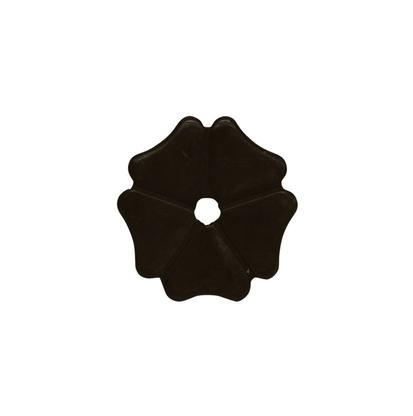 Cloverleaf Rowel 1 1/8 Inch Black Satin