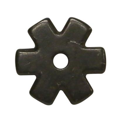 1 1/4 Inch 6- Point Spur Rowel Black Satin