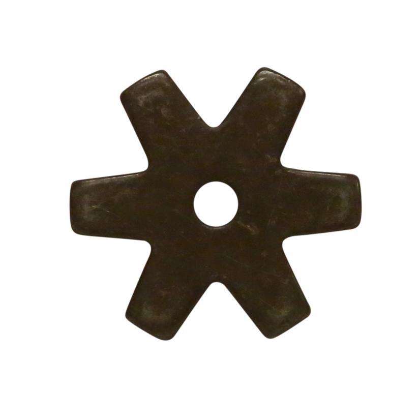 1 1/4 Inch 6- Point Rowel Black Steel