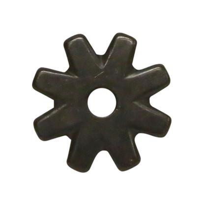 1 Inch Black Satin 8- Point Rowel