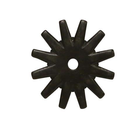 1 5/8 Inch Spur Rowel Black Satin