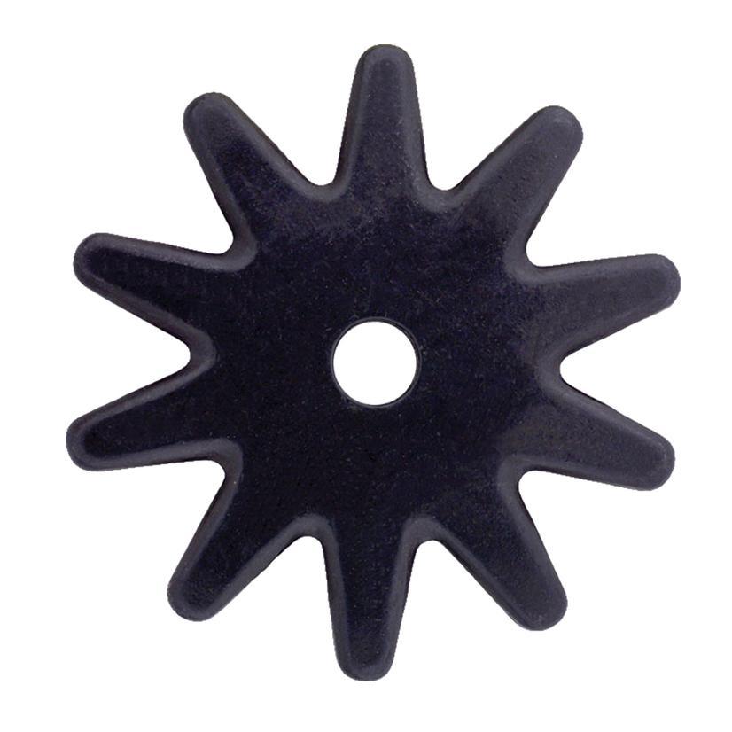 1 1/2 Inch Spur Rowel Black Satin