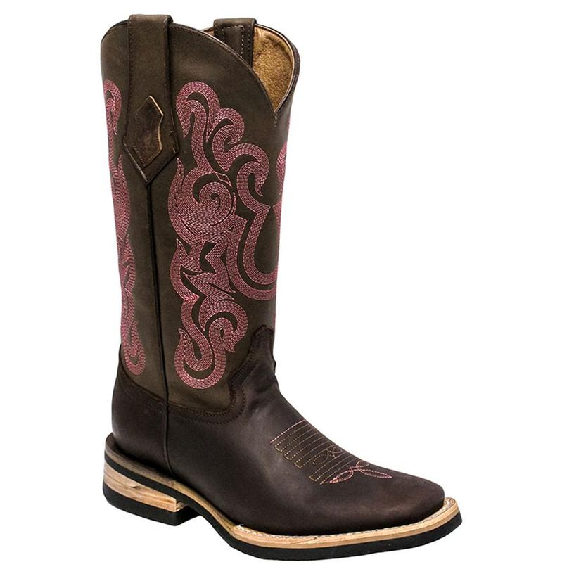Ferrini Maverick Pink and Brown Womens Boots