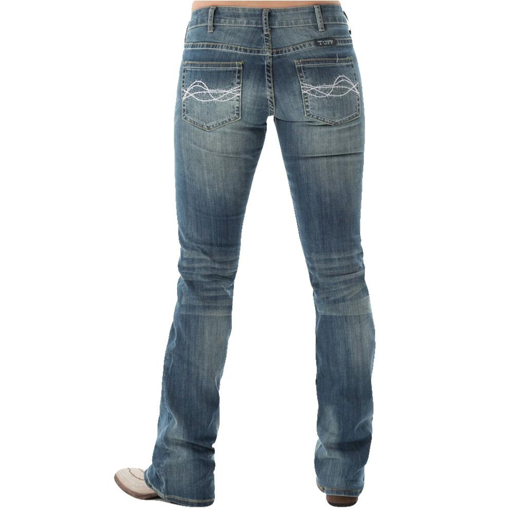 Cowgirl Tuff Womens Don ' T Fence Me In Jeans - Medium Wash