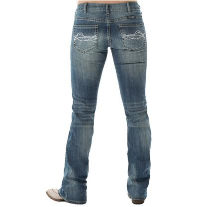 Cowgirl Tuff Women's Don't Fence Me In Jeans - Medium Wash