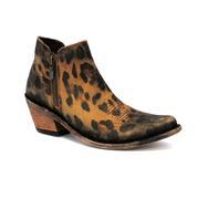 Liberty Black Timeless Roar Cheetah Print Womens Short Boots